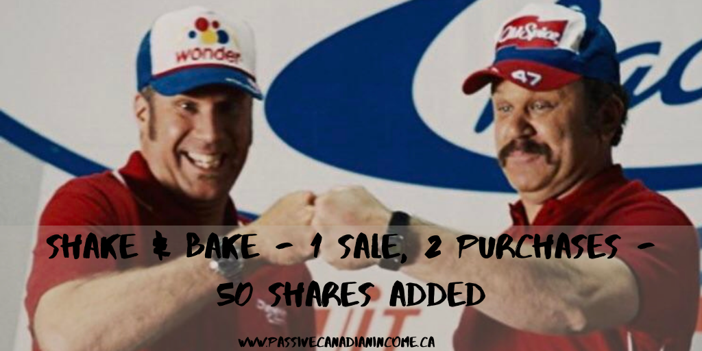 Shake & Bake - 1 Sale, 2 Purchases - 50 shares Added